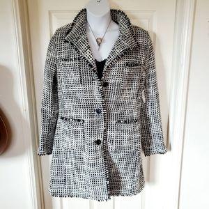 DAMO Orange Label Tweed Overcoat NWT $495